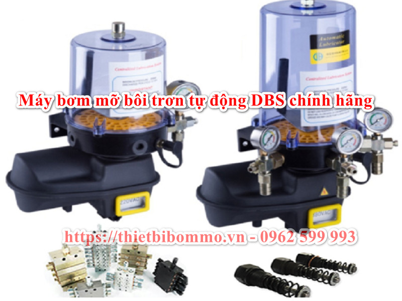 Máy bơm bôi trơn mỡ tự động DBS-B 2-8L sử dụng cho máy phay